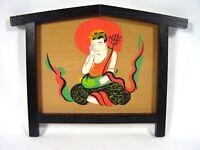 Japanese Hand Painted Ema Buddhist Goddess Kannon Kwanyin Quanyin Kwan Yin