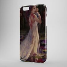 Lady White Dress with baby holder Painting Phone Case Cover