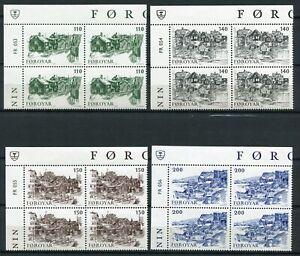 Faroe Marginal Block 1981 FR053-056 Old Thorshavn MNH Complete Series