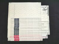 PC224 RARE BROTHER KNITTING MACHINE PATTERNS PUNCH CARDS KH860 KH881 J SET X 20
