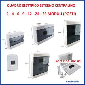 Quadro elettrico esterno 2 4 12 16 24 36 moduli Din da parete IP40 centralino *