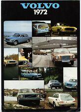 Volvo 1972 range sales brochure Prospekt