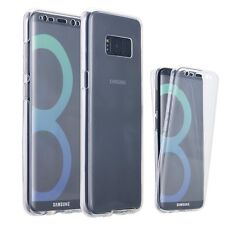 Front and Back Clear 360° Full protection Gel Cover Skin Case For Samsung S8 UK
