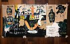 Jean-Michel Basquiat Hand-painted acrylic painting on cardboard 1983