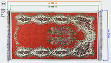 GEBETSTEPPICH BlumenMuster Seccade122 cm x 67 cm Orange-Rot-Grün-Beige