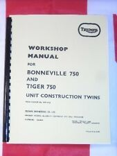 Shop Manual Fits Triumph T140 Bonneville TR7 Tiger 1973 1974 1975 1976 1977 1978