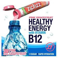 Zipfizz Healthy Energy Electrolyte Drink Mix Pink Grapefruit Flavored 30 Tubes