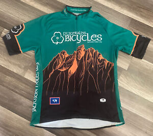 Jackson Hole Wy Fitzgerald's Bicycles SUGOI Cycling Jersey Large FREE SHIPPING!!