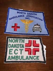 North Dakota ECT Ambulance Patches 2 Total