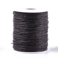 10m Waxed Cotton Thread Cords, CoconutBrown, cord beading string 1mm AUS Seller