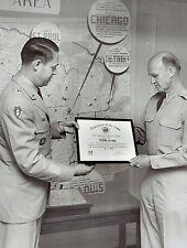 1954 Original Photo US 5th Army General Gay accepts award from General Crawford