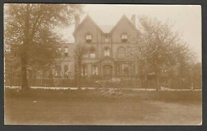 Postcard Large house with early motor car from a Shropshire collection RP