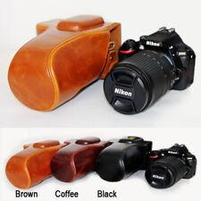 Leather Camera case bag Grip For Nikon D5100 D5200 D5300