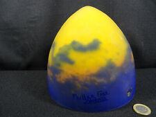 dome globe obus de lampe pate de verre signé MULLER FRES LUNEVILLE