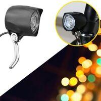 36V 48V 4 LED Mountain EBike Electric Bike Bicycle Lamp Front Headlight w/ Horn