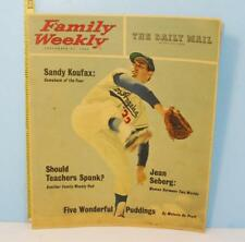 1963 Family Weekly Daily Mail Sandy Koufax Cover Los Angeles Dodger Sept 22 RARE