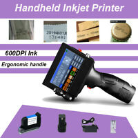 Handheld Inkjet Printer 600DPI Ink Date Text QR Code Barcode Logo Machine
