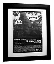PAVEMENT+Wowee Zowee+ALBUM+POSTER+AD+RARE+ORIGINAL+1995+FRAMED+FAST GLOBAL SHIP