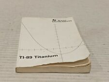 Ti-89 Titanium Texas Instruments Manual Guidebook Book Instructions Free Ship!