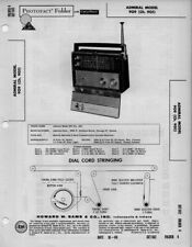 1960 ADMIRAL 909 SHORTWAVE 9 BAND RADIO SERVICE MANUAL PHOTOFACT SCHEMATIC FIX