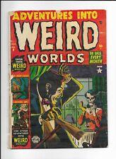 ADVENTURES INTO WEIRD WORLDS #9 ==> GD INSANE SKULL PRE-CODE HORROR ATLAS 1952