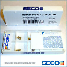 XOMX 060208R-M05 F40M SECO *** 10 INSERTS *** FACTORY PACK ***