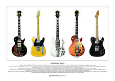 Keith Richards' Guitars Limited Edition Fine Art Print A3 size