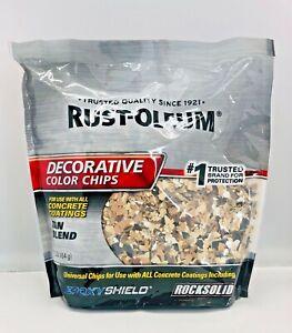 NEW - Rust-Oleum 301357 Epoxy Shield Decorative Tan Color Chips Concrete 1-lb