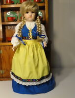 """Reproduction of Antique GB GEORGE BORGFELDT Germany 22"""" BISQUE DOLL in Swedish"""