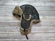 Wigens Leather Rabbit Fur Winter Hat Men's Size 59