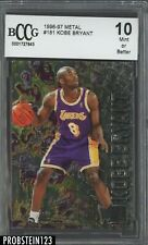 1996-97 Metal #181 Kobe Bryant Lakers RC Rookie HOF BCCG 10