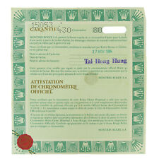 15053 ROLEX DATE 2-YEAR WARRANTY PAPERS 1983 OFFICIAL CHRONOMETER CERTIFICATION