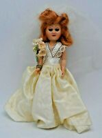 "Hard Plastic Bride Doll 7"" Sleepy Eyes"