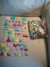 Lot of 500+ Foam Stickers Shapes Insects Bugs Flowers Trees Grass Leaves Crafts
