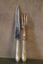 Service à découper métal argenté couteau manche à gigot fourche cutting set