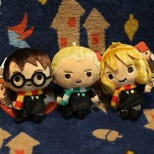 New Harry Potter Harry Ron Weasley Hermione Draco Malfoy Plush Toy Keychain 4PCS