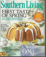 Southern Living February 2014 Perfect Roast Chicken/Lemon Desserts/Cheesy Grits