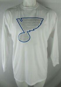 St. Louis Blues Fanatics NHL Men's Light Gray & Blue Logo Short Sleeve T-Shirt
