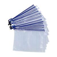 1X(SODIAL(R)12 Stueck A4 Kunststoff Tasche mit Reissverschluss Tasche Papie K5K7