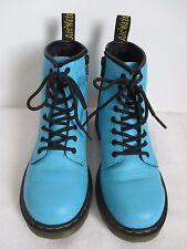 Dr. Martens Boots Ankle Womens 8-Eye Lace Up Air Wair Leather Blue Size US 5