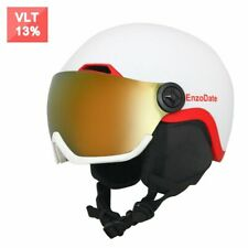 Ski Snow Helmet with Integrated Goggles Shield Snowboard Detachable Mask Lens