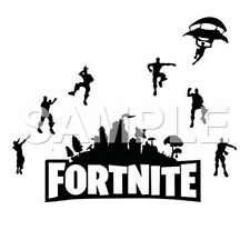 Fortnite vinyl iron on transfer (choice of 1 any color)