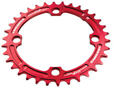 Race Face Chainring Single Narrow Wide 104 X 34t Red Mountain Bike