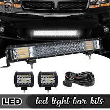 22Inch 1088W Flood Spot Led Light Bar Offroad Work Lights Truck Atv 4WD GMC