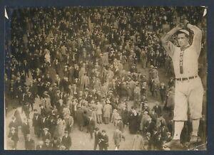 1910 ED WALSH White Sox Incredible Pitching/Stadium Vintage Baseball Photo
