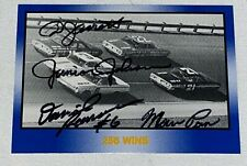Ned Jarrett JUNIOR JOHNSON David Pearson MARVIN PANCH signed MoR 256 WINS card