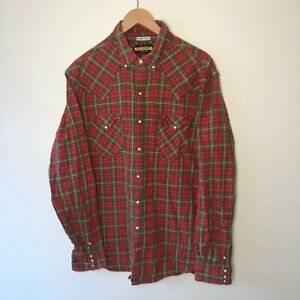 Ralph Lauren Rugby Red Check Vintage Flannel Lumberjack Shirt Size XL