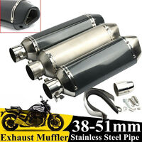 38-51MM Universel moto d'échappement silencieux tuyau avec amovible db killer