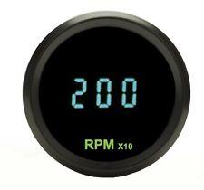 """Dakota Digital Round Teal Mini 2-1/16"""" Tachometer Teal Gauge 0-18k RPM ODYR-02-7"""