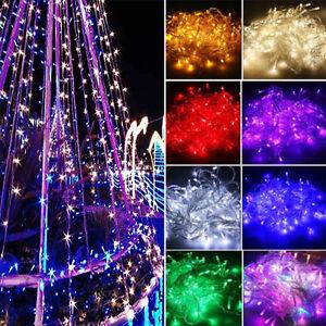 100/200/300/400 Christmas Tree String Party Light Fairy Lamp Xmas Waterproof